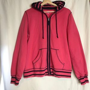 SJB ACTIVE Hooded Fleece Sweatshirt Large Pink